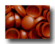 #167 Burnt Orange SNAP-CAPS Screw Covers